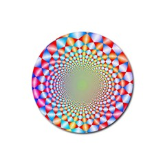 Color Abstract Background Textures Rubber Round Coaster (4 Pack)
