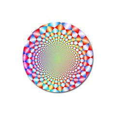 Color Abstract Background Textures Magnet 3  (round)