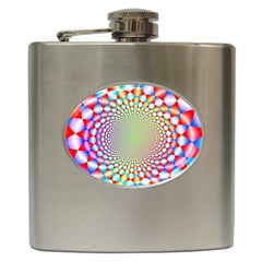 Color Abstract Background Textures Hip Flask (6 Oz)