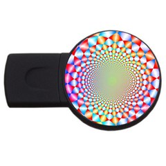 Color Abstract Background Textures Usb Flash Drive Round (2 Gb)