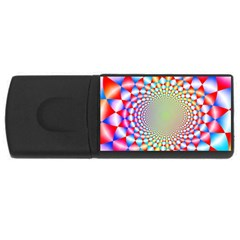 Color Abstract Background Textures USB Flash Drive Rectangular (1 GB)