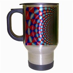 Color Abstract Background Textures Travel Mug (silver Gray)