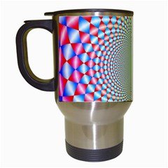 Color Abstract Background Textures Travel Mugs (white)