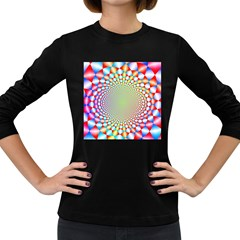 Color Abstract Background Textures Women s Long Sleeve Dark T-Shirts