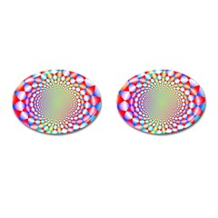 Color Abstract Background Textures Cufflinks (oval)