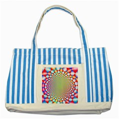 Color Abstract Background Textures Striped Blue Tote Bag