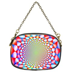 Color Abstract Background Textures Chain Purses (two Sides)
