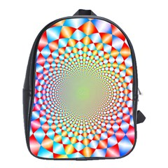 Color Abstract Background Textures School Bags(large)