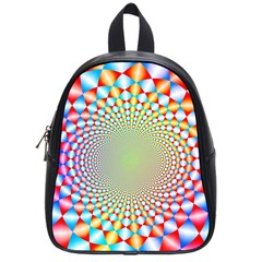 Color Abstract Background Textures School Bags (small)