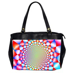 Color Abstract Background Textures Office Handbags (2 Sides)