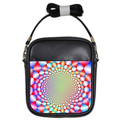 Color Abstract Background Textures Girls Sling Bags