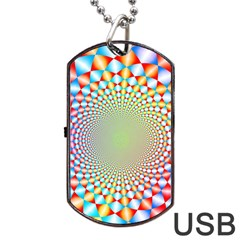 Color Abstract Background Textures Dog Tag Usb Flash (one Side)