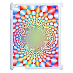 Color Abstract Background Textures Apple Ipad 2 Case (white)