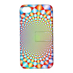Color Abstract Background Textures Apple Iphone 4/4s Hardshell Case With Stand