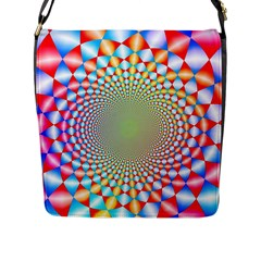 Color Abstract Background Textures Flap Messenger Bag (l)