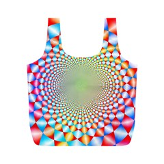 Color Abstract Background Textures Full Print Recycle Bags (m)