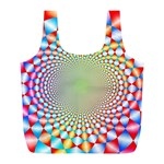 Color Abstract Background Textures Full Print Recycle Bags (L)  Back