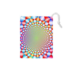 Color Abstract Background Textures Drawstring Pouches (small)