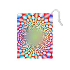 Color Abstract Background Textures Drawstring Pouches (medium)
