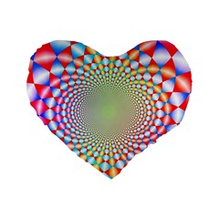 Color Abstract Background Textures Standard 16  Premium Flano Heart Shape Cushions
