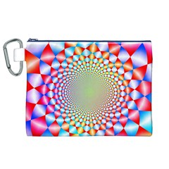 Color Abstract Background Textures Canvas Cosmetic Bag (xl)