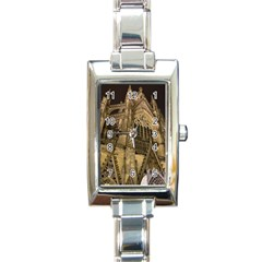 Cologne Church Evening Showplace Rectangle Italian Charm Watch