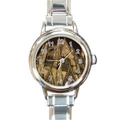 Cologne Church Evening Showplace Round Italian Charm Watch