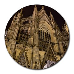 Cologne Church Evening Showplace Round Mousepads