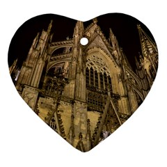 Cologne Church Evening Showplace Ornament (heart)