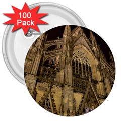 Cologne Church Evening Showplace 3  Buttons (100 Pack)