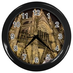 Cologne Church Evening Showplace Wall Clocks (Black)