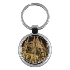 Cologne Church Evening Showplace Key Chains (Round)