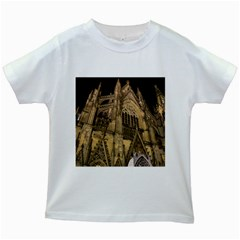 Cologne Church Evening Showplace Kids White T Shirts