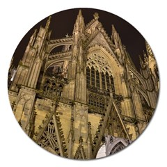 Cologne Church Evening Showplace Magnet 5  (round)