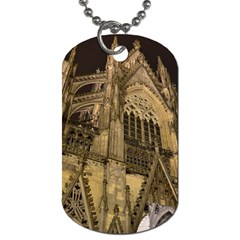 Cologne Church Evening Showplace Dog Tag (two Sides)