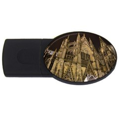 Cologne Church Evening Showplace Usb Flash Drive Oval (2 Gb)