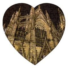 Cologne Church Evening Showplace Jigsaw Puzzle (heart)