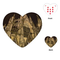 Cologne Church Evening Showplace Playing Cards (heart)
