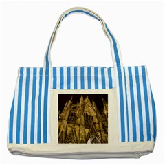 Cologne Church Evening Showplace Striped Blue Tote Bag