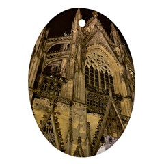 Cologne Church Evening Showplace Oval Ornament (two Sides)