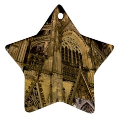 Cologne Church Evening Showplace Star Ornament (two Sides)