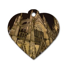 Cologne Church Evening Showplace Dog Tag Heart (one Side)