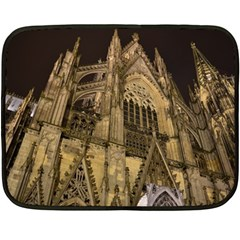 Cologne Church Evening Showplace Double Sided Fleece Blanket (mini)