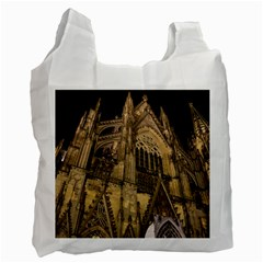 Cologne Church Evening Showplace Recycle Bag (one Side)
