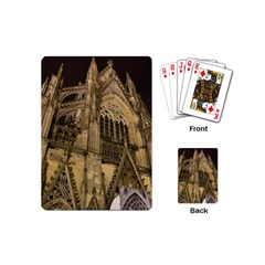 Cologne Church Evening Showplace Playing Cards (mini)