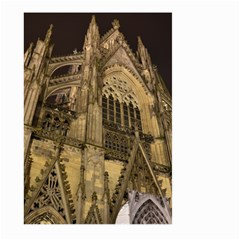 Cologne Church Evening Showplace Large Garden Flag (two Sides)