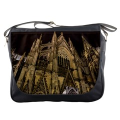 Cologne Church Evening Showplace Messenger Bags