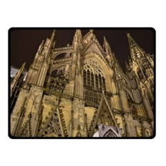 Cologne Church Evening Showplace Double Sided Fleece Blanket (small)