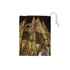 Cologne Church Evening Showplace Drawstring Pouches (small)