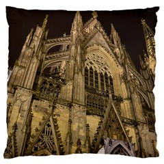 Cologne Church Evening Showplace Large Flano Cushion Case (two Sides)